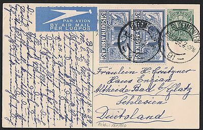 South Africa 1939- Bloemfontein- To Germany Vf Card