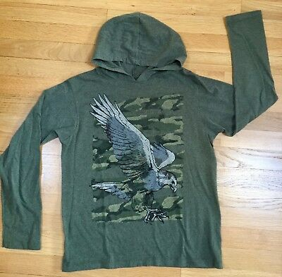 Boy's Tony Hawk HOODIE Pullover Size L (12-14) Green with Graphics Cotton