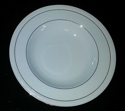"Noritake White Scapes - Stoneleigh 4062 - Rimmed Soup Bowl - 8 3/4"" Diameter"