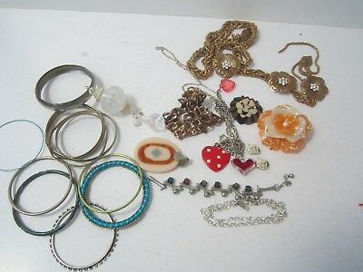 Bulk Lot Old/Used Jewellery for Craft work x 390 grams