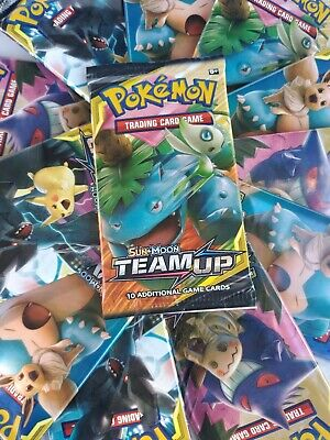 Pokemon Cards - Sun & Moon Team Up - Booster Pack (10 Cards) -New Factory Sealed