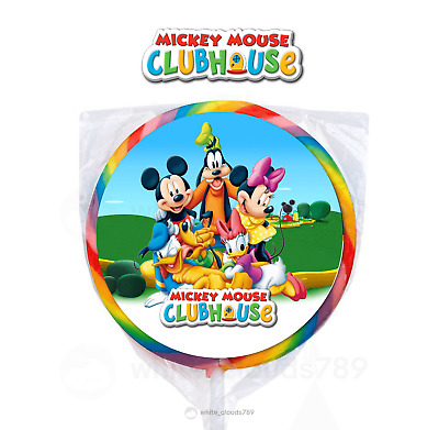 24 Disney Jr Mickey Mouse Clubhouse Minnie Label Lollipop Birthday Party Favors