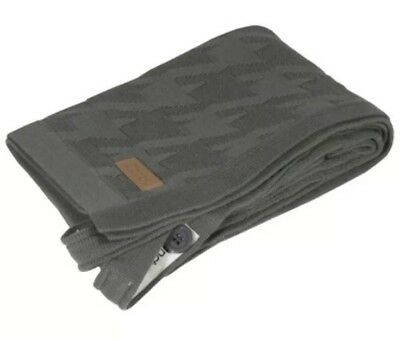 iCandy Dogtooth Blanket Charcoal - Never Used - RRP $90