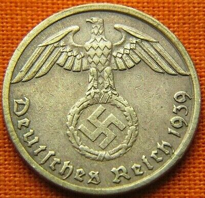 Wwii German 1939 - A 1 Reichspfennig 3Rd Reich Bronze Nazi Germany Coin Wc1692