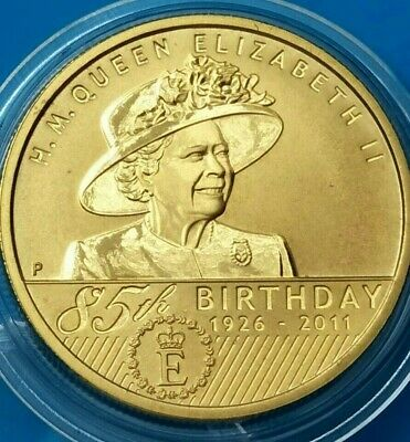 Australia  2011  UNCIRCULATED $1 Coin. QUEENS 85TH BIRTHDAY in capsule