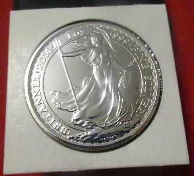 2014 Great Britain Britannia £2 Two Pounds Silver BU 1oz Coin               #MF-