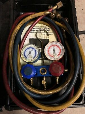 Mastercool 89660 Professional R-134a Manifold Gauge Set With Hoses & Case R134a