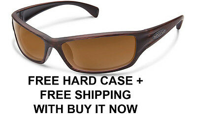 41b0413715 Suncloud Hook Sunglasses - Burnished Brown Brown Polarized Lens + Free Hard  Case