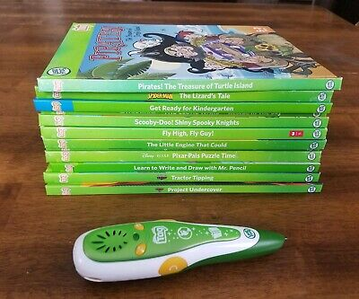 Lot of 12 Leap Frog Tag Books With Leap Reader Pen!