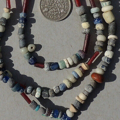 29.5 inch 75 cm strand tiny ancient djenne glass beads mali #175