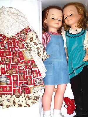 "Tonner - LOT OF TWO 29"" Dolls & 2 Outfits - Both Dolls In Need Of Repair"