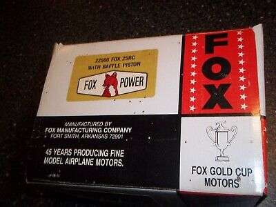 Fox 25 Rc New In Box Never Mounted Remote Control Model Airplane Engine