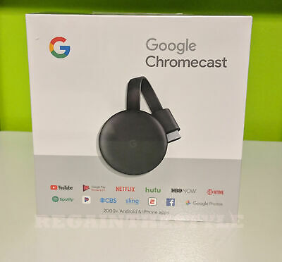 NEW Google Chromecast 3rd Gen Digital HDMI Media Streaming Device
