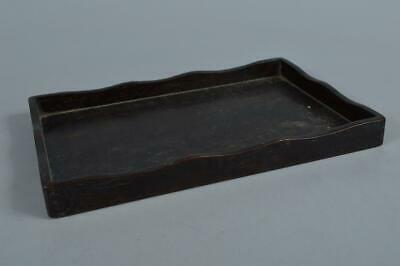 R9457: Japanese Old WOODEN TRAY/plate Senchabon Tea Ceremony