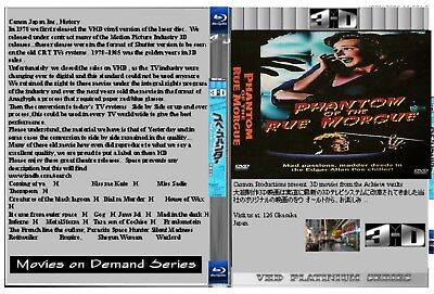 3D Phantom At Rue Morgue  AP  3D movies  side by side   Total Exclusive RARE