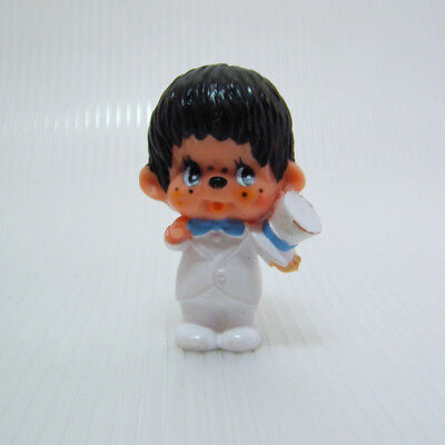 Vintage MONCHHICHI Groom in White Tux with Top Hat PVC Figure 1979 Sekiguchi