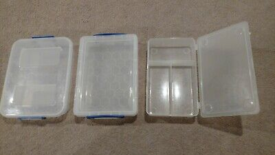 Several Craft Organizers or Plastic Tackle Totes - Lot 7