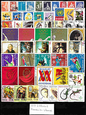 618 Romanian different stamps NEW assortment A4 (10 Scans)