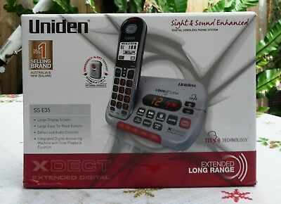 Uniden Digital Cordless Phone SSE35 Ideal for hearing impairment Visual problems