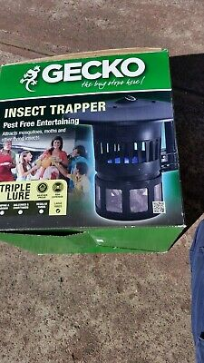 Gecko bug zapper killer UV light 40 meter coverage. Attracts moths and insects