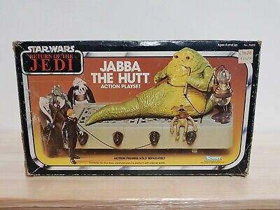 Vintage Original Star Wars Rotj Jabba The Hutt Action Playset Toy Figure Kenner