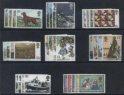 GB 1979 Commemorative Stamps, Year Set~no m/s~Unmounted Mint~UK Seller