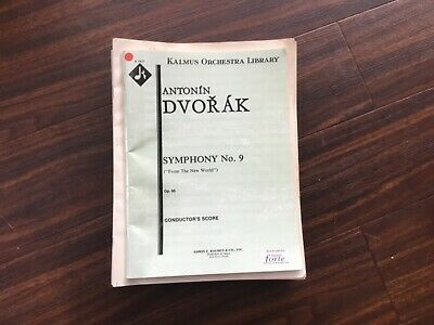 Dvorak Symphony No. 9 [New World] Orchestral Score and parts.