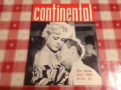 CONTINENTAL FILM REVIEW vintage magazine July 1966