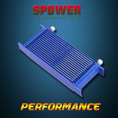 Universal 17 Row AN10 Engine Transmission Aluminum Oil Cooler Mocal Style Blue