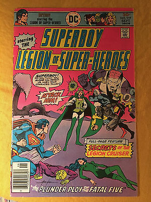 Superboy Legion Of Super-Heroes 219 1976 Fn 6.0 Graded By Seller Shooter Grell