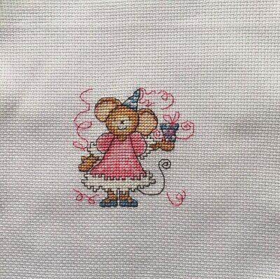 "Completed Cross Stitch Tapestry - ""Furry Tales"" Party Mouse"
