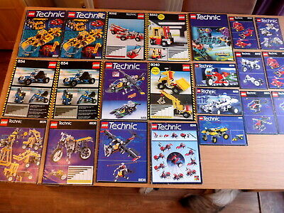 Huge Collection / Job Lot Of Old Technic Lego Instruction Books /manuals