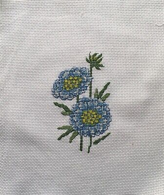 Completed Cross Stitch Tapestry - Summer Flowers Scabiosa
