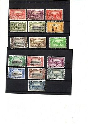 A  MINT AND USED SET FROM SIERRA LEONE GEORGE 6th