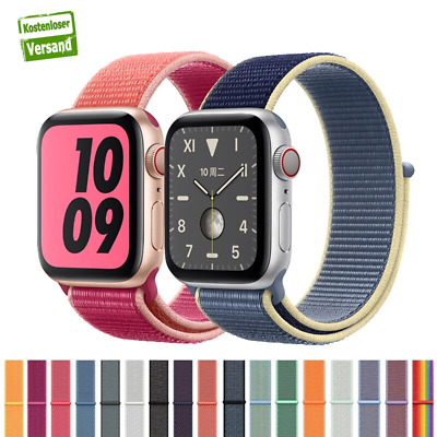 Apple Watch Nylongewebe Armband Sport Loop Series 1 2 3 4 Uhrenarmband 38mm 42mm