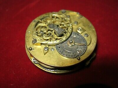 Late 19th century fusee watch movement.