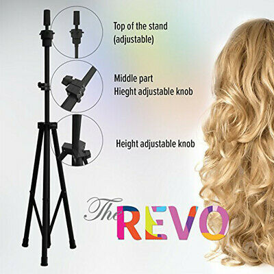 Young professional Wig Mannequin Head Tripod Stand WithCarry Bag For Cosmetology