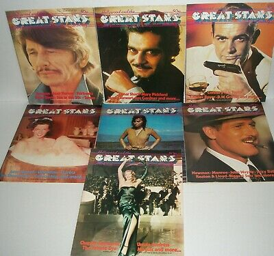 HOLLYWOOD AND THE GREAT STARS MONTHLY MAGAZINE Bundle 7 Issues