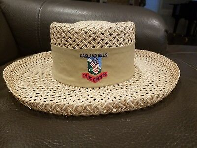 144b3aa1f36fd Vintage 1996 US Open Oakland Hills Golf Straw Hat Made in USA
