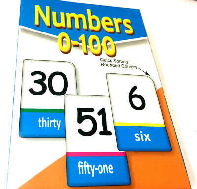 Flash Card NUMBER 0-100 Kids Flashcard Number Cards Count Educational Learn Math