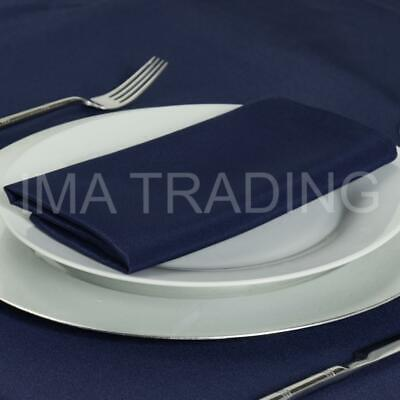 """NAVY ROUND TABLECLOTH 330cm, 130"""" Inch, 220GSM POLYESTER TABLE CLOTH"""