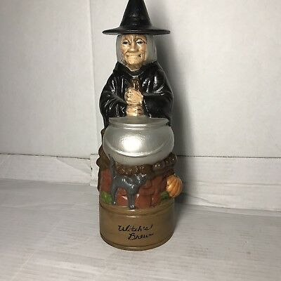 VIntage Hand Painted Alberta's Mold Ceramic Witches Brew Decanter 12""