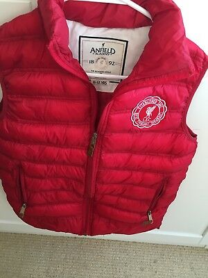 Liverpool FC Official Red Gilet Age 11-12