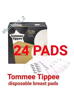 Tommee Tippee Closer Nature Maternity Disposable Breast Feeding Nursing 24 Pads