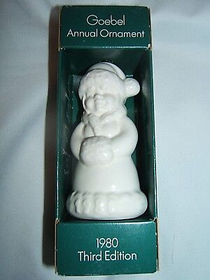 Goebel 1980 Annual Ornament 3rd Edition Mrs Claus