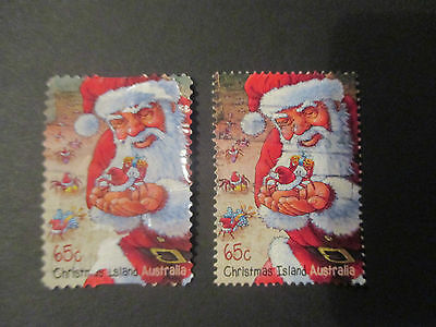 No-27---2014    CHRISTMAS   ISLAND   ISSUED --2  STAMPS  --GREAT  LOT