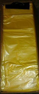 "2000 7""×19"" Plastic Yellow Tinted Newspaper delivery bags. Pet Waste bags !!!"