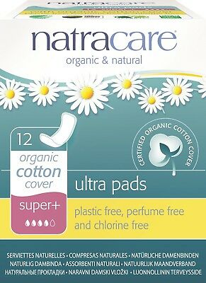 Natracare - Ultra Super Plus Pads - 12 count