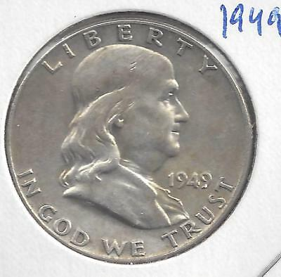 1949 P Franklin half dollar Nice Circulated U.S. 90% silver coin
