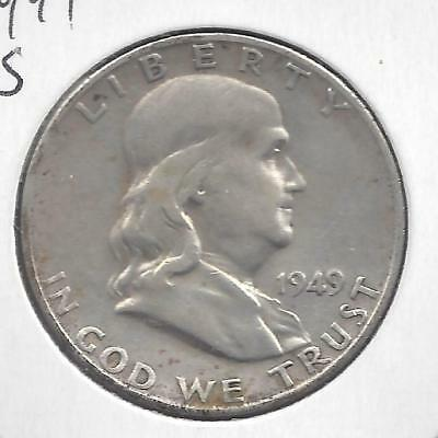 1949 S Franklin half dollar Nice Circulated U.S. 90% silver coin
